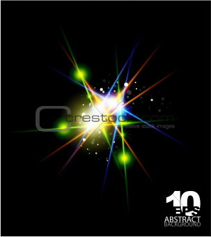 Glowing vector shape abstract background