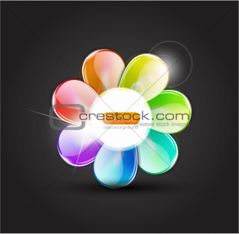 Abstract flower with glass petals