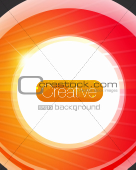 Bright glass circle vector background