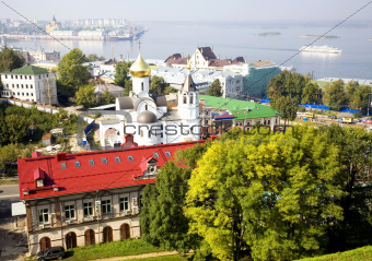 September view of Nizhny Novgorod Russia