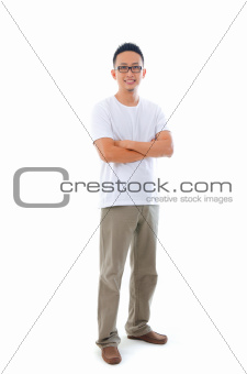 asian man in casual