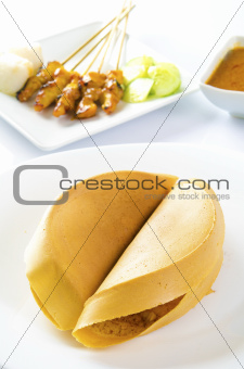Asian sweet pancake, apam balik
