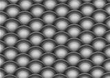isometric 3d render of silver chrome balls