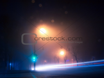 Foggy nightly Kiev