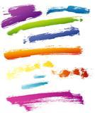 Vector illustration of splash banners color