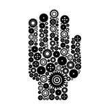 Hand a gear wheel