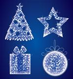 Vector illustration of christmas icons