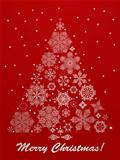 Vector Christmas Greeting Card with Fir Tree