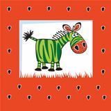 cute fruity zebra