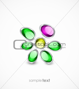 Abstract glass flowers