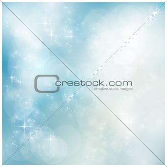 Silver blue winter, Christmas bokeh