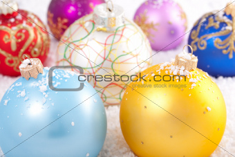 Multicolored Christmas decorations