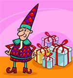 christmas elf or gnome cartoon