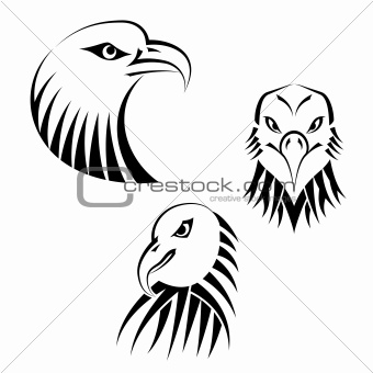 Set Eagles Heads