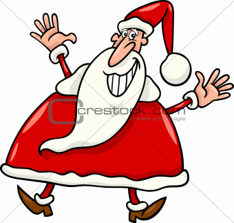 happy santa claus cartoon