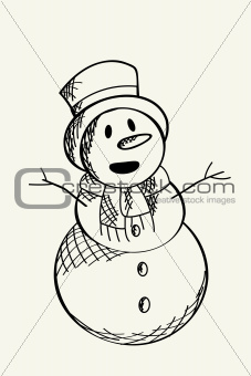 Snow man sketch