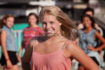 Cheerful Teenage Girl