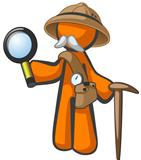 Orange Man Explorer with Magnifying Glass