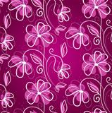 Vector illustration of pattern flowers seamless