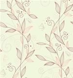 Vector illustration of pattern flowers seamless