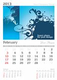 February 2013 A3 calendar