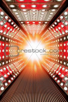 flashing modern stage