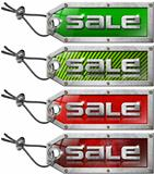 Set Sale Tags on White Background