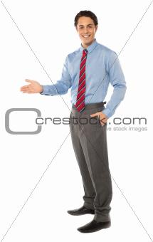 Stylish corporate gentleman posing