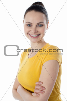 Smiling portrait of a skinny amarican teenager