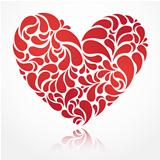 Vector heart illustration for Valentine&#39;s Day
