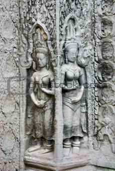 cambodia ancient khmer temple stone carvings angkor wat