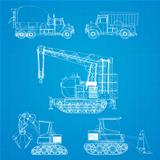 Construction vehicles blueprint