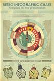 Infographics retro elements - work time concept
