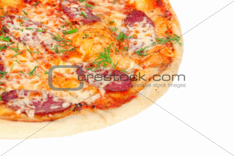 tasty Pizza with Salami and Cheese
