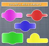 Colorful web elements with shadows