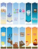 animal web banners