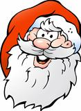 Hand-drawn Vector illustration of an Happy Smiling Santa