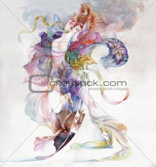Allegory of Iris Flower