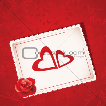 Luxury Valentines greeting card