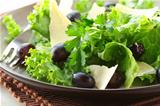 snack salad with grapes and cheese
