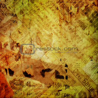 abstract background with printed text