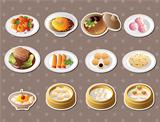 Chinese food stickers