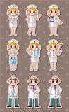 cartoon doctor and nurse stickers