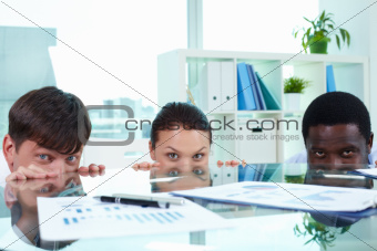 Three employees