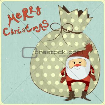Christmas cards with cartoon Santa