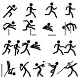 Sport Pictogram Icon Set 02 Track &amp; Field