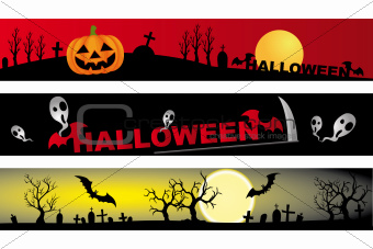 Halloween - 3 various banner