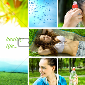 healthy life collage