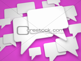 Blank Speech Bubble on Lilac Background