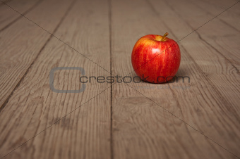 Apple on table